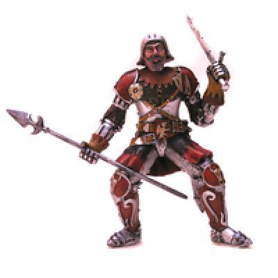 Plastoy der rote<br> Ritter auf<br>Kartonverpackung !!!
