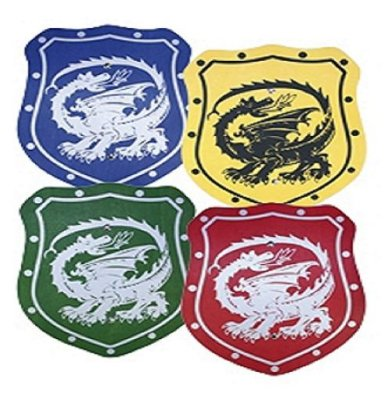 Wood - elegant<br> plate 35cm colored<br>dragon!