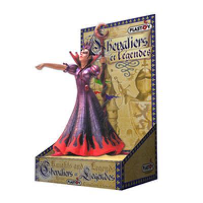 Plastoy witch<br> violet on<br> cardboard ...