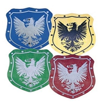 Wood - elegant<br> plate 35cm colored<br>eagle!