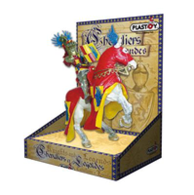 Plastoy knights<br> with horses on<br>cardboard packaging