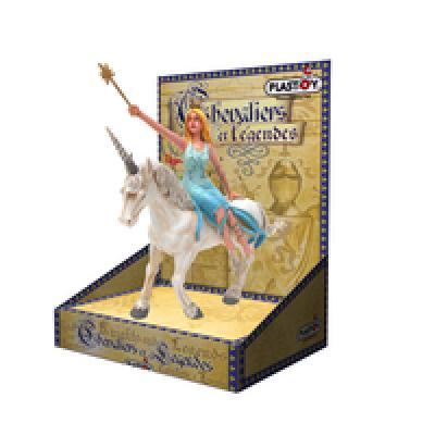 Plastoy fairy with<br> unicorn on<br>cardboard packaging!