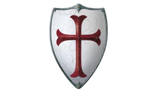 Wood - Knights<br> Templar Shield<br>49x32cm