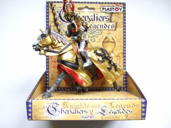 Plastoy Ritter mit<br> Pferd auf<br>Kartonverpackung