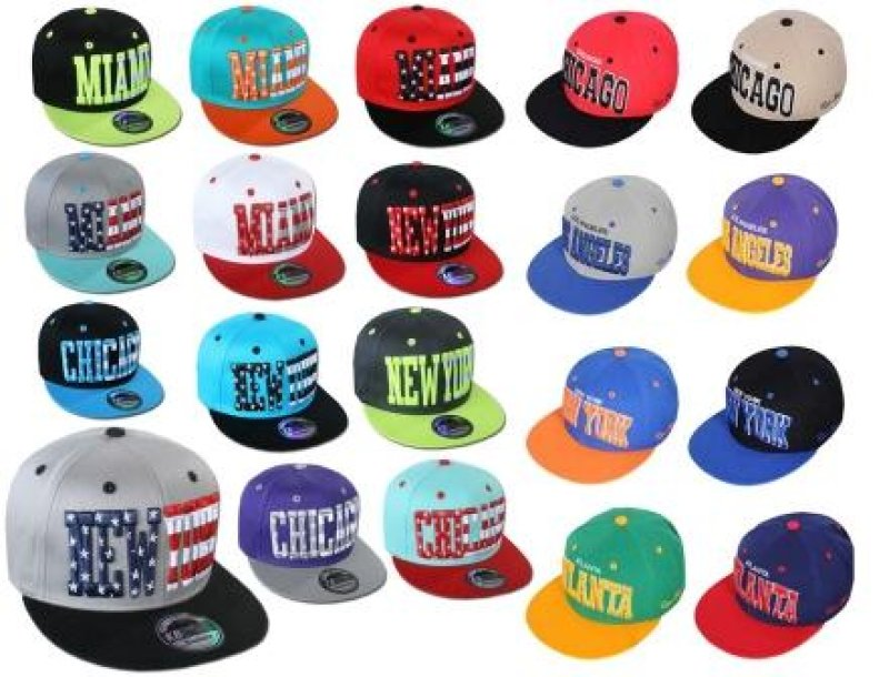 Basecap Cap Caps<br> USA New York<br>Atlanta Chicago NEU
