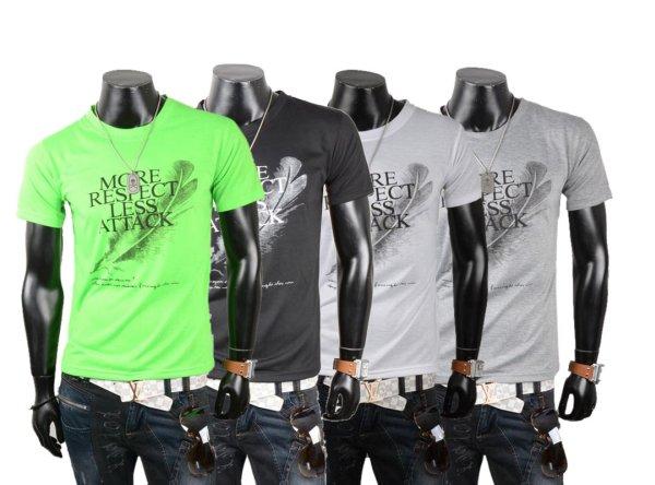 Herren Men Kurzarm<br> T-Shirts Shirts<br>Oberteile Motiv