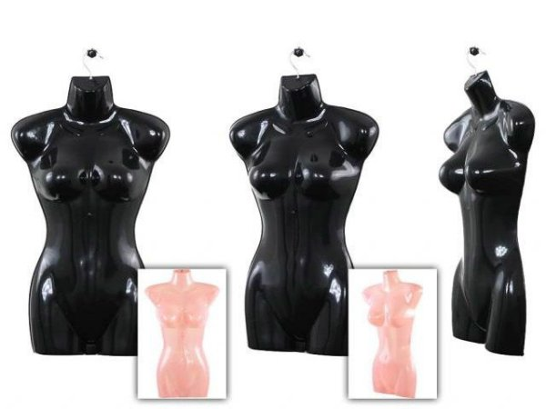 10 Damen Women<br> Torso Büsten Deko<br>Schaufensterpuppe