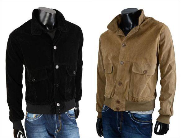 Herren Men<br> KunstLeder Jacke<br>Lederimitat Jacket