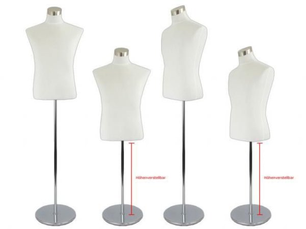 1 x torso man bust mannequin dress form