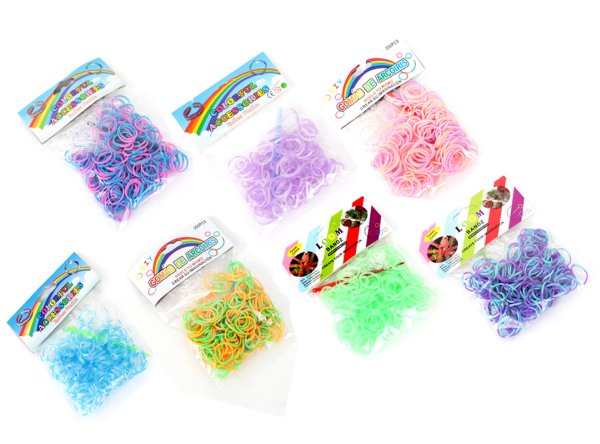 Loom band bands<br>package (á 200Stk)