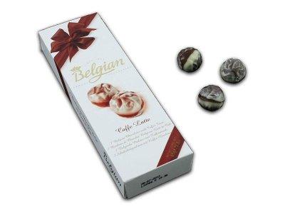 Belgian chocolates<br> Belgian pralines<br>Caffe Latte