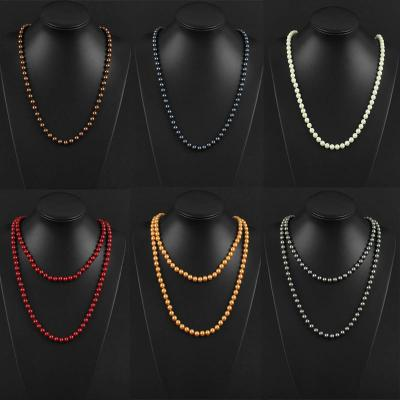130cm Extra Long<br> Pearl Necklaces<br>Chain Jewelry Fas