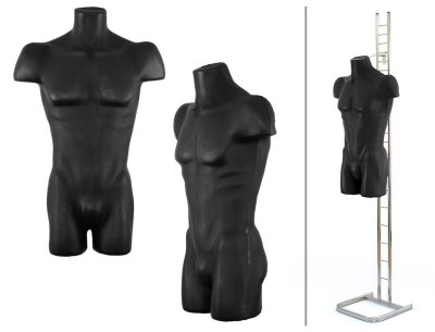 Men mannequin bust man<br>figure stands