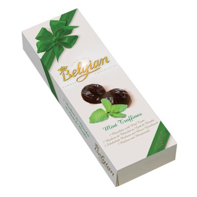 Belgian chocolates<br> Belgian pralines<br>Truffines Mint