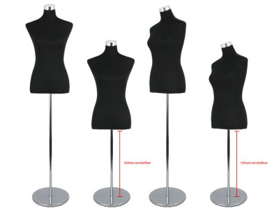 Torso lady dress form mannequin stand