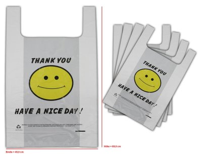 Bags plastic bags bag shirt pocket 45x69