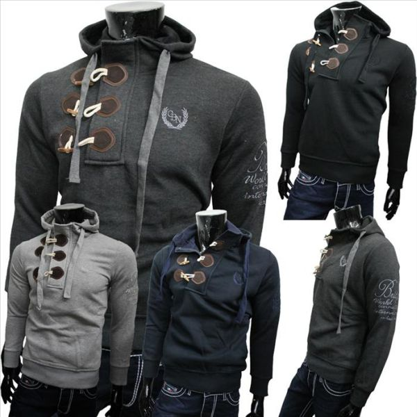 Herren Zipper<br> Pullover Shirts<br>Jacke Pulli Sweats