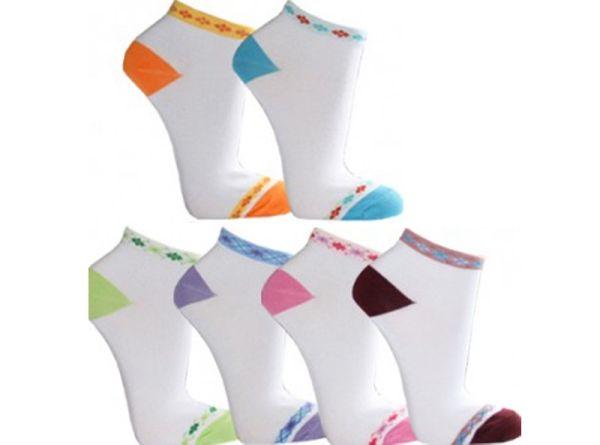 Damen Sneaker<br> Socken Socks<br>Füßlinge Farbmix
