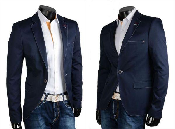 Męska bluza salon<br> garnitur marynarka<br>na co dzień