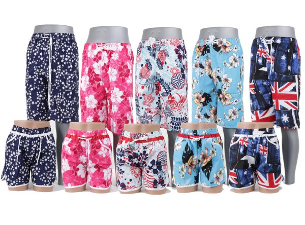 Men and women<br> double surf shorts<br>swim shorts