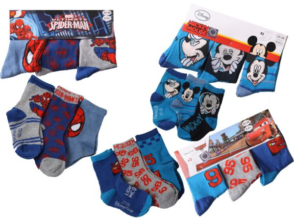 Kinder Jungen<br> Socken Socks<br> Spiderman Micky ...