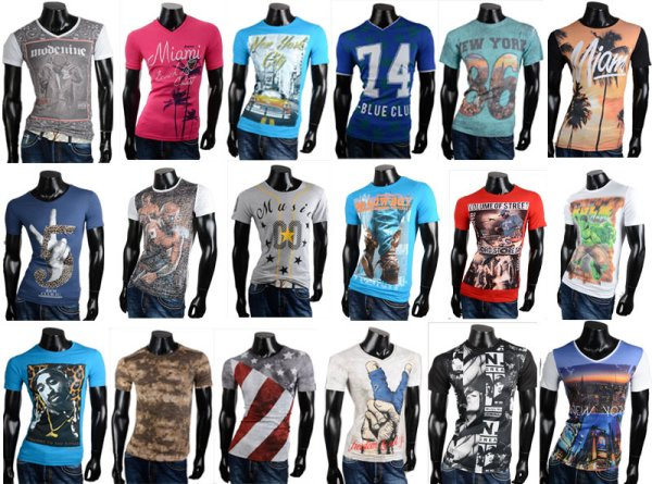 Men&#39;s T-shirt<br> men short sleeve<br>shirt with moti