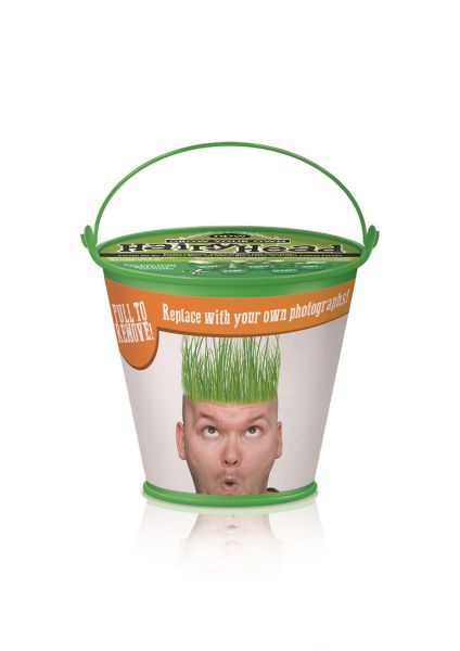 Haariger Kopf -<br>Eimer - Graskopf