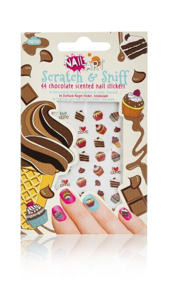 Scratch &amp;<br> Sniff Chocolate<br>Nail Stickers