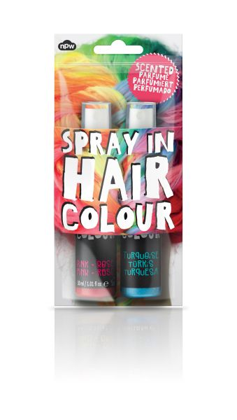 Spray In Hair<br> Colour- Pink &amp;<br>Turquoise Duo
