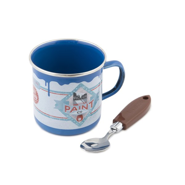 Painter coffee mug<br> with spoon brush<br>blue