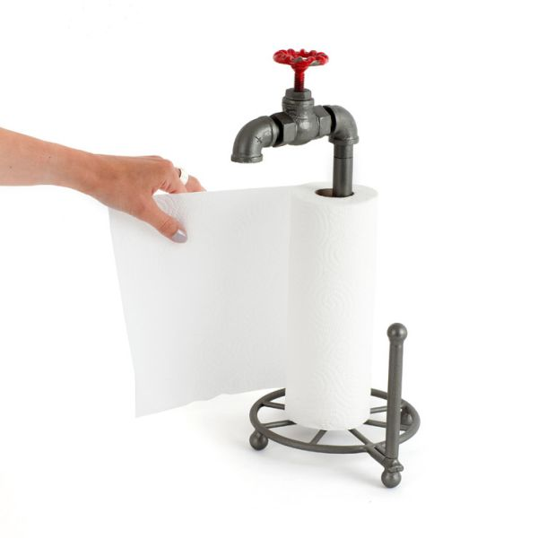 Kitchen towel<br> holder plumber<br>with cock