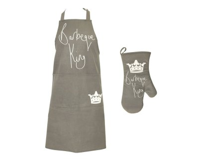 BBQ Grill King<br> Apron &amp; Gloves<br>- Apron