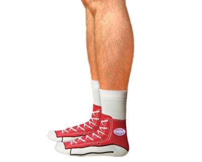 Sneaker Socks, Red