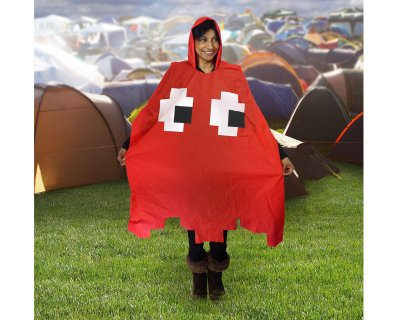Retro Arcade<br> Poncho / Raincoat<br>- Red