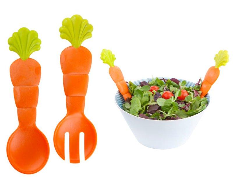 Salatbesteck Karotte