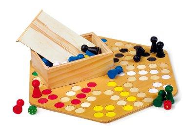 Ludo 6er /<br> társasjáték PLAY<br>WOOD COMPANY