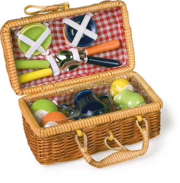 Koszyk piknik, kolorowy