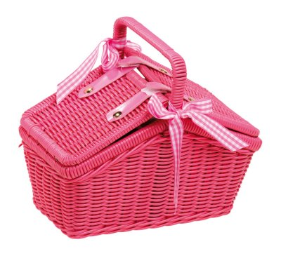 Picnic Basket  Metal Dishes