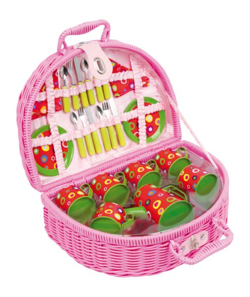 Picnic Basket<br> Colourful Circles