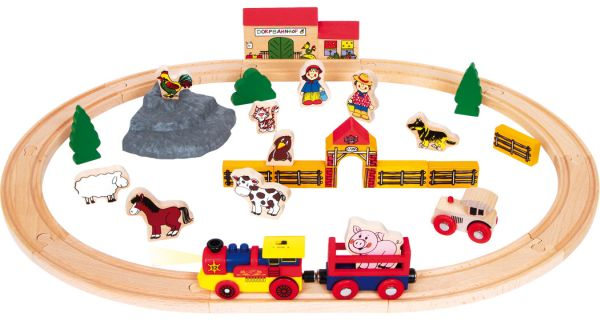 Holzbahn Bauernhof
