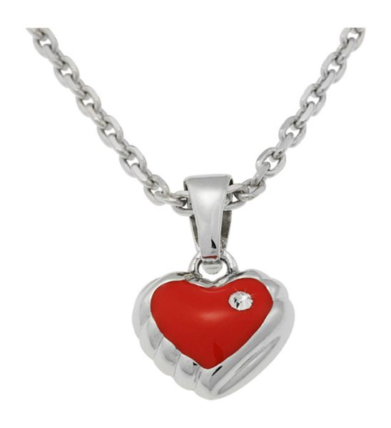 Necklace incl. red<br>Heart Pendant