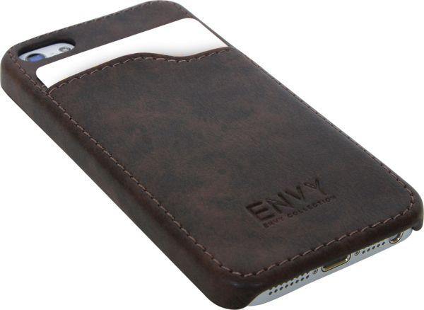 iPhone 5 Cover,<br> Imitation Leather,<br>Brown