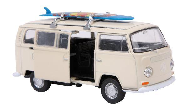 Modellauto  VW<br>Bus T2 + Surfbrett