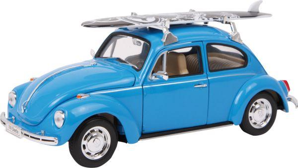 Modellauto  VW<br>Beetle + Surfbrett