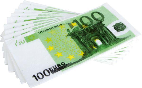 Servietten Euronoten