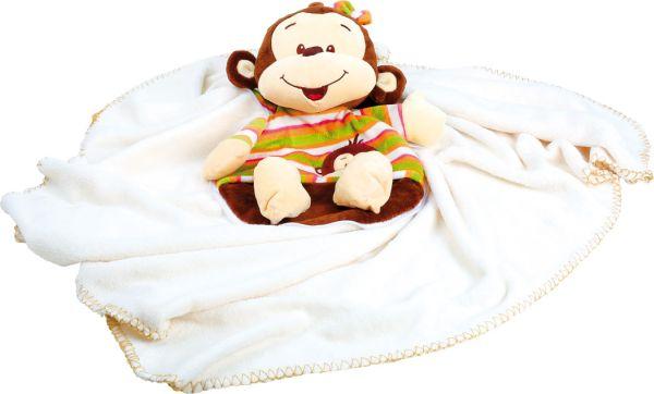 Kuscheldecke Affe