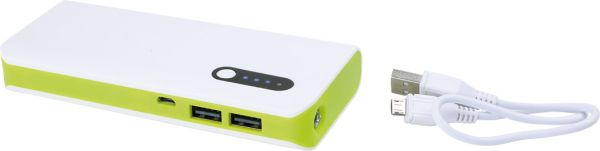 External Battery<br> white-green, 8000<br>mAh