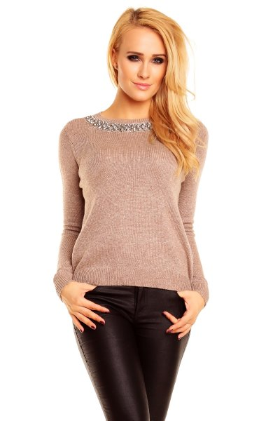 Sweater Chic Et<br> Jeune CP6198 light<br>brown