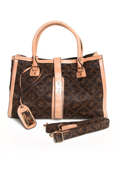Handbag Giulia<br> Pieralli GP409<br>coffee beige