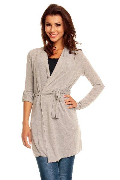 Cardigan sweaters<br> Vintage Dressing<br>8677 light gray